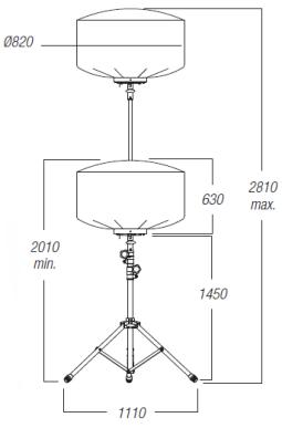 Dimensions-ballon-eclairant-300w