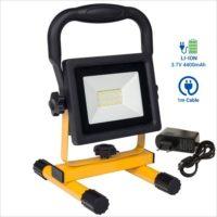 Projecteur-chantier-rechargeable-transportable-20w-led-batterie-lithium-4400-mAh